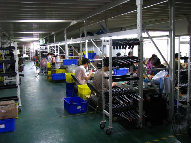 Assembly line at the new G&G factory