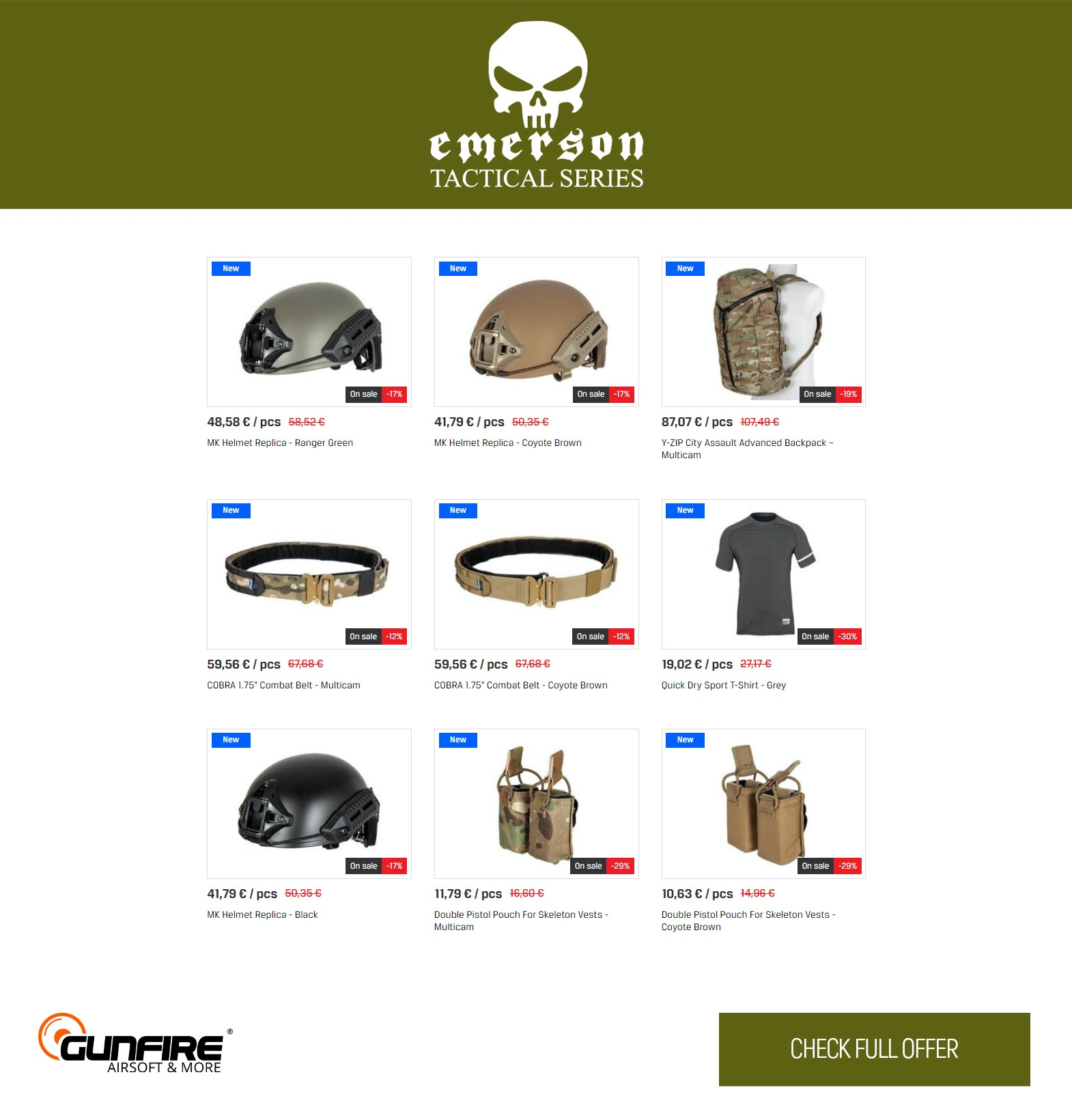 Back To School Sale and new deliveries at Gunfire (Emerson Gear)