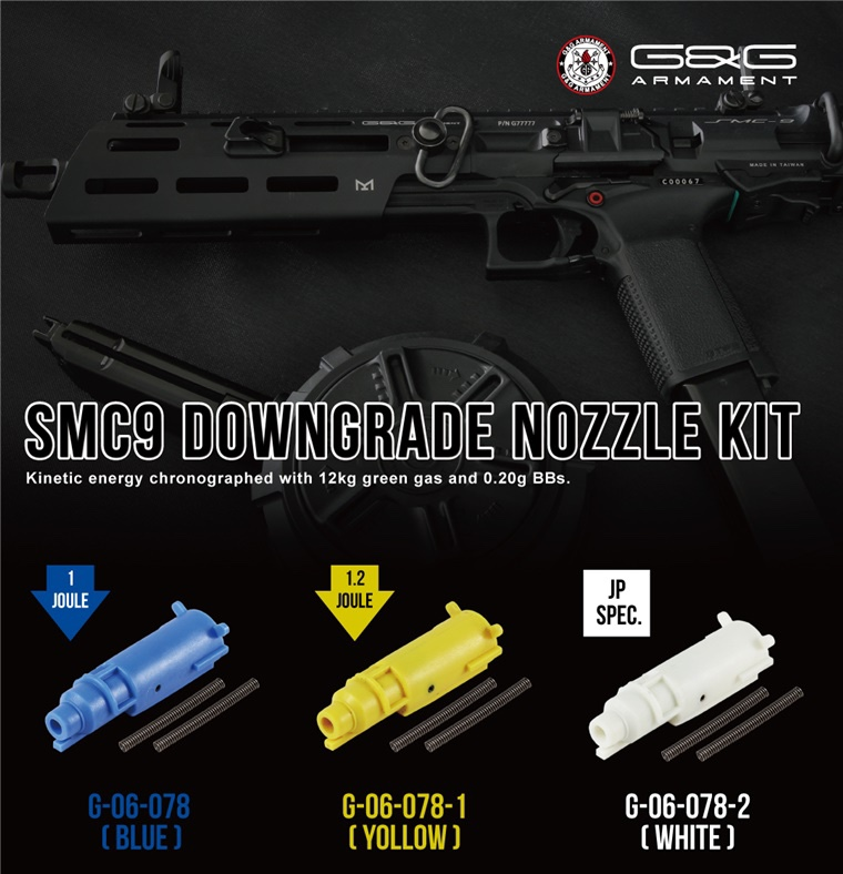 G&G SMC-9 Downgrade Nozzle Kit