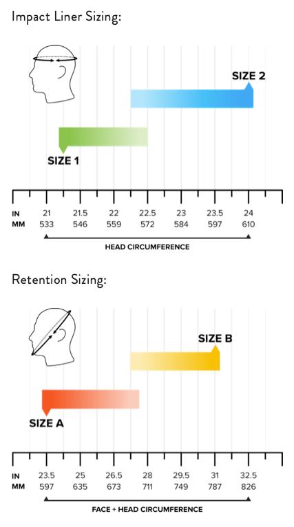 MTEK FLUX size chart