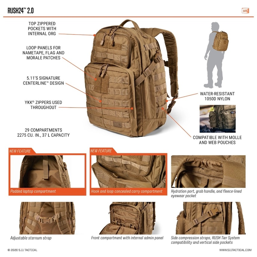 5.11 Tactical RUSH24 2.0