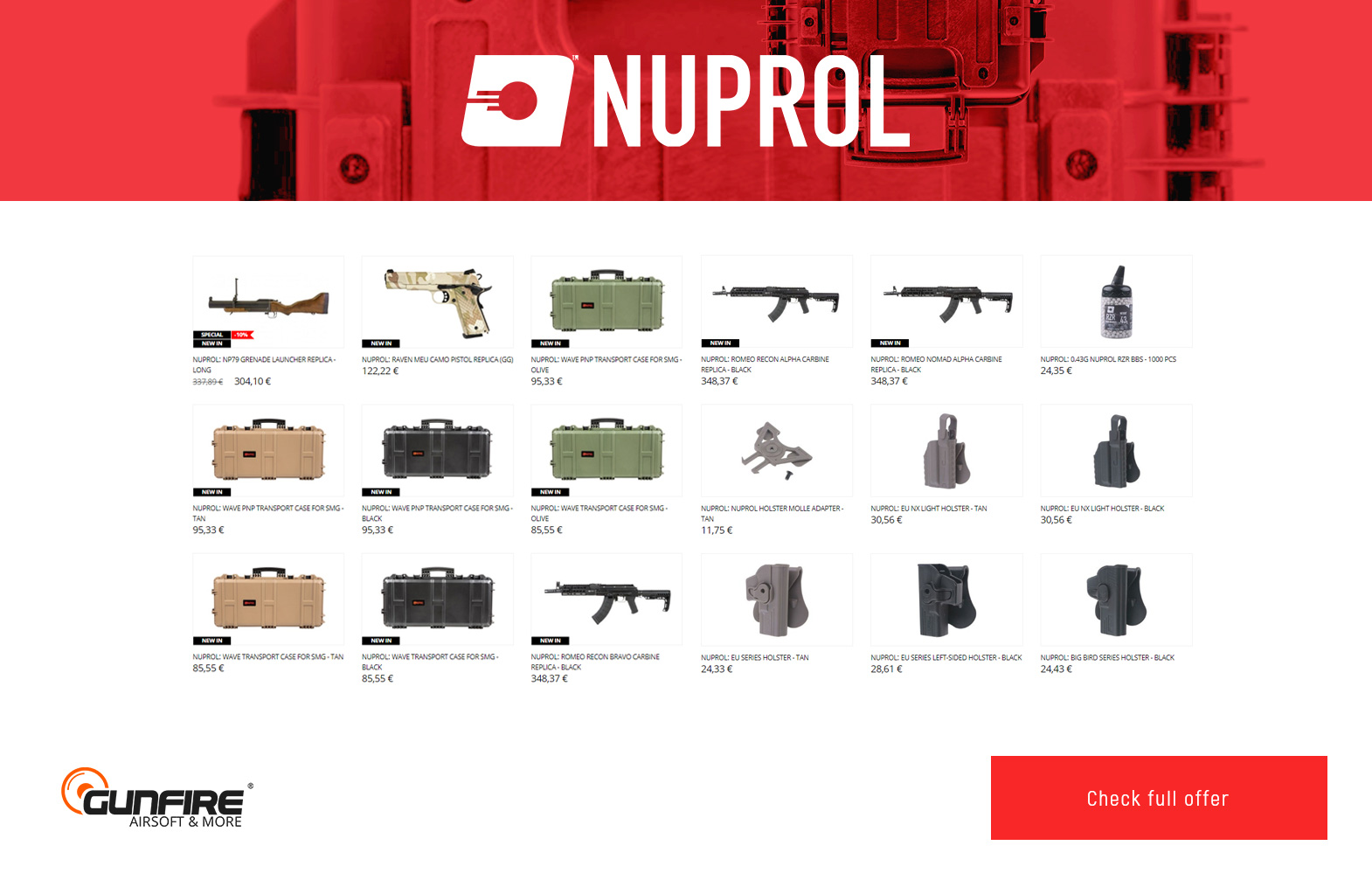New products from Umarex, GATE, Nuprol and Airosft Pro at Gunfire