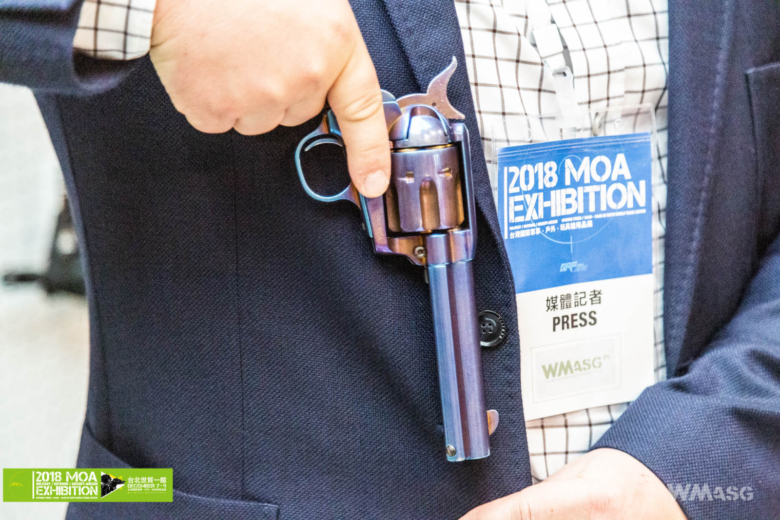 MOA 2018 - King Arms - SAA .45 Peacemaker green gas