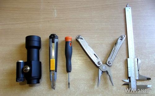 Narzędzia potrzebne do naprawy włącznik Comp M2